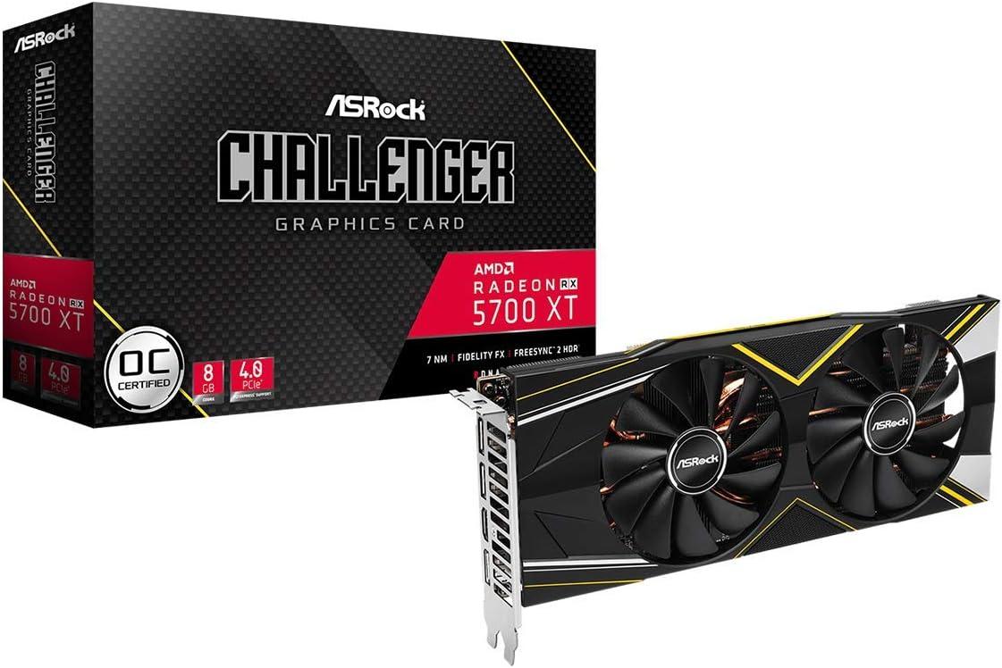 ASRock VCX RX 5700 XT Challenger D 8G OC 8GB GDDR6 PCIE 256B HDMI 3xDP Retail (RX5700 XT Challenger D 8G OC)