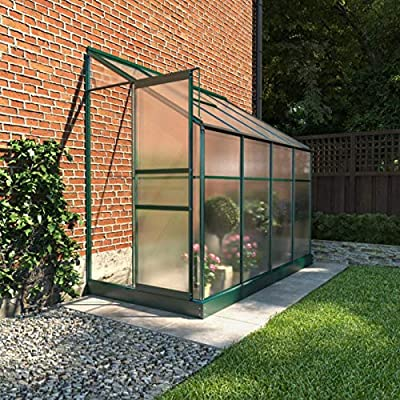 BillyOh 4x8 Polycarbonate Aluminium Frame Lean-To Greenhouse