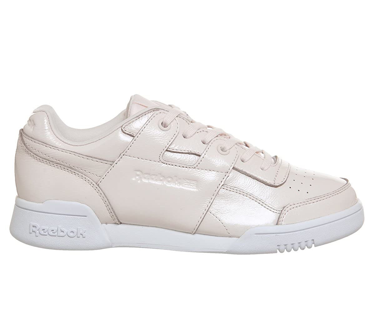 a3f4c16f73621d Amazon.com  Reebok Workout Lo Plus Iridescent Womens Sneakers Pink  Clothing