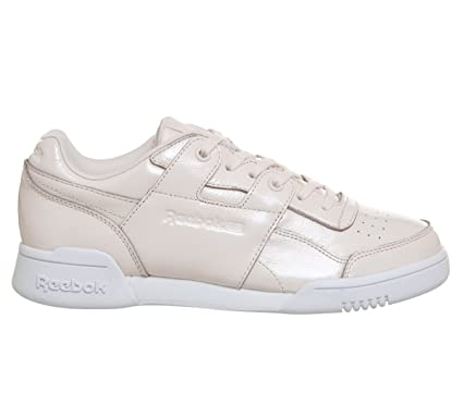 fa7286f038ee2 Amazon.com  Reebok Workout Lo Plus Iridescent Womens Sneakers Pink  Clothing