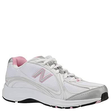 Women's New Balance, 496 Walking Shoe WHITE / PINK 6.5 2A