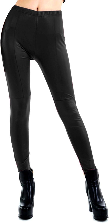 V-SOL Polainas Pantalones para Mujer Señora De Cuero Imitación De Primavera Otoño Talla M Negro: Amazon.es: Deportes y aire libre