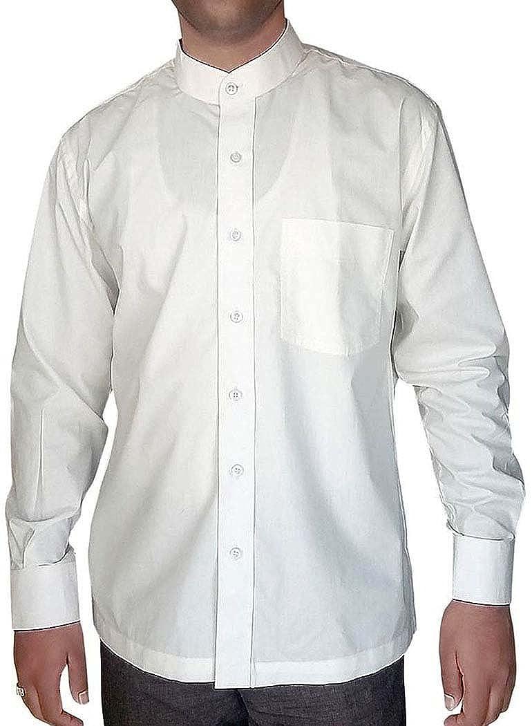Inmonarch Mens White Cotton Nehru Collar Shirt Nsh06x Large X Large