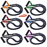 Cheap FitCord Resistance Bands – 4ft Premium Exercise Cords Home & Gym, Shoulder & Arm Care, Muscle Performance, Sports, Rehab Workouts – Set of 6-7lbs to 55lbs – Door Anchor Included