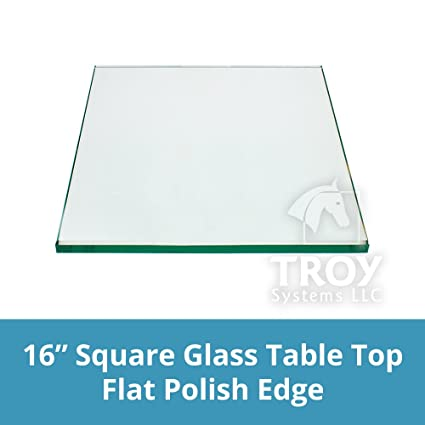 Amazon square glass table top 16 inch custom annealed clear square glass table top 16 inch custom annealed clear tempered quot thick glass with watchthetrailerfo