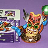 Skylanders Series 1.5 Double Trouble - Series 1 figure with Series 2 orange base (includes card & code sticker, no retail packaging)