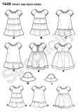 Simplicity 1449 Easy to Sew Girl's Dress and Hat