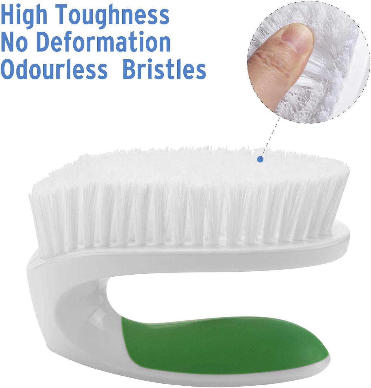 Blue+Green Amazer Scrub Brush Comfort Grip /& Flexible Stiff Bristles 2-Pack Heavy Duty Cleaning Brushes for Bathroom Shower Sink Carpet Floor