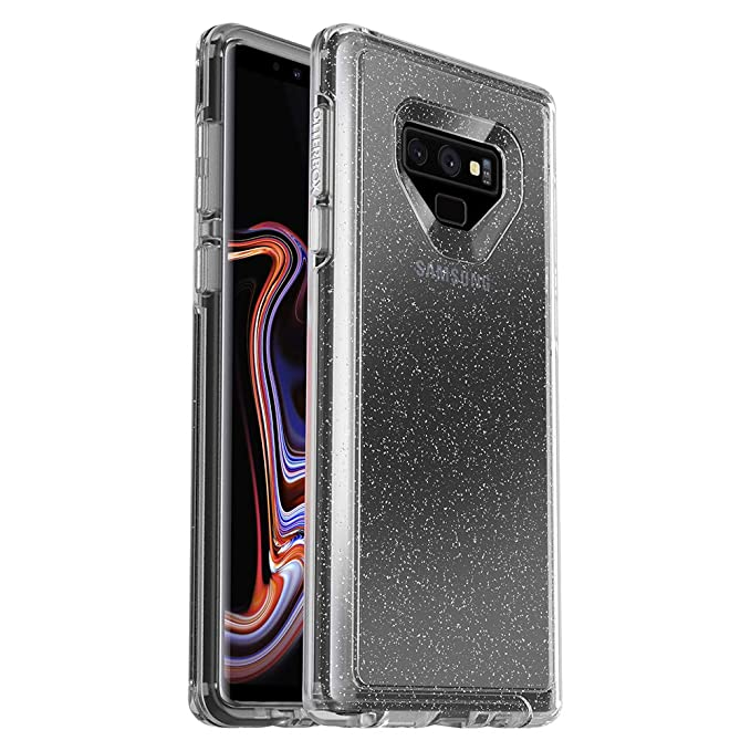 online store 6b50f 8e978 OtterBox Symmetry Clear Series Case for Samsung Galaxy Note9 - Retail  Packaging - Stardust (Silver Flake/Clear)