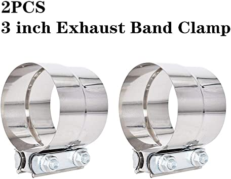 4PCS 2.5 inch Stainless Steel Lap Joint Exhaust Clamp T304