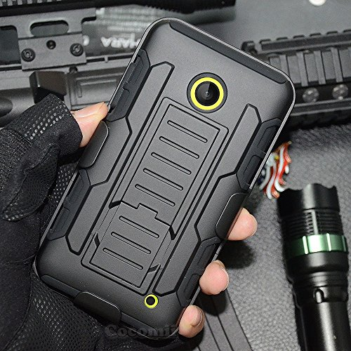 Nokia Lumia 520 Case, Cocomii Robot Armor NEW [Heavy Duty] Premium Belt Clip Holster Kickstand Shockproof Hard Bumper Shell [Military Defender] Full Body Dual Layer Rugged Cover Nokia (Black)