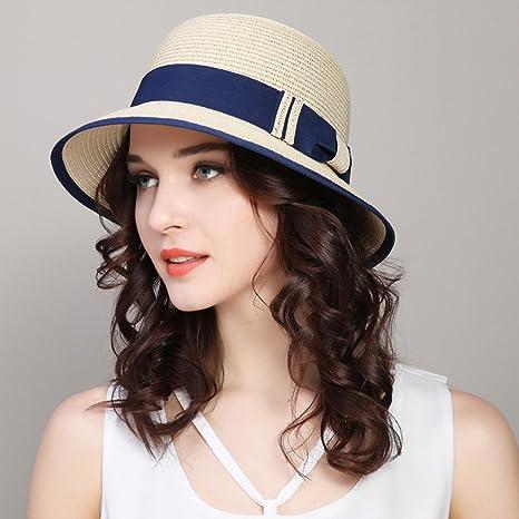 Straw hat Flash- Cappello da Sole Femminile Cappellino di Protezione Solare Cappello  da d4ba42cad8f9