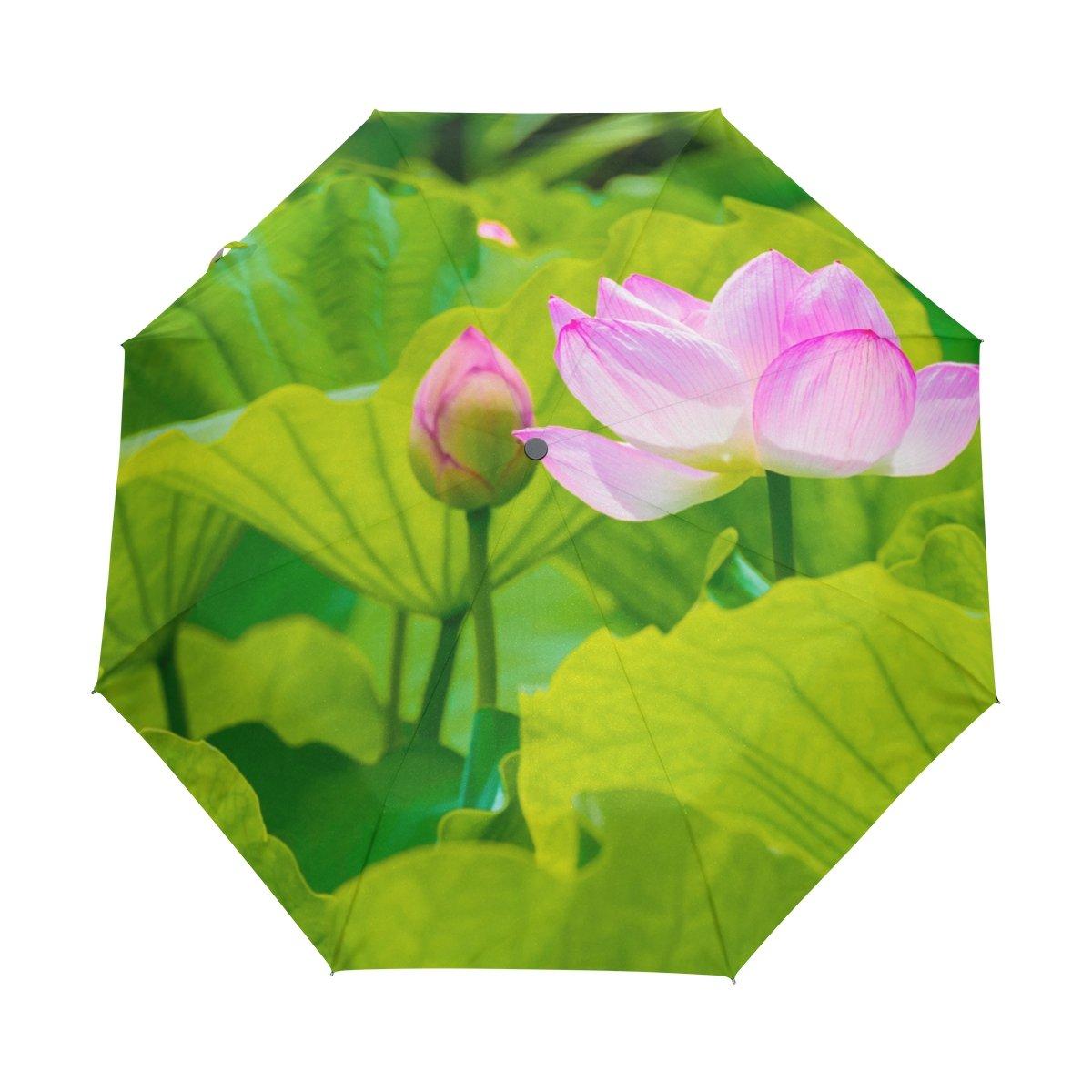 Hot Sale 2017 Naanle Pink Lotus Flower Bright Green Lotus Leaf Auto