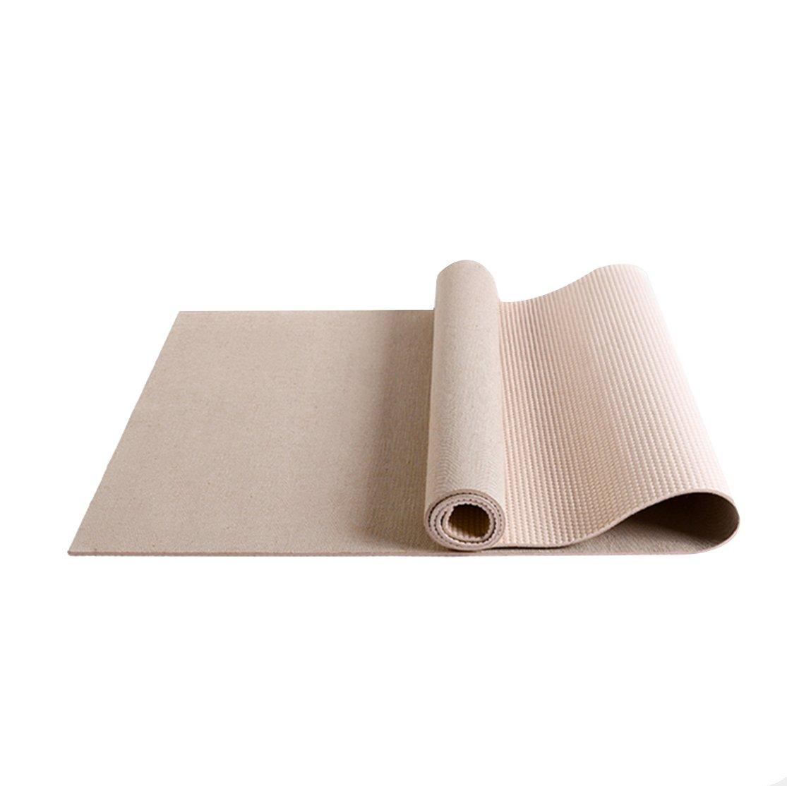LXFMD Leinen Yogamatte Rutschfeste Rebound Herren und Damen Fitnessmatte (Farbe   Khaki)