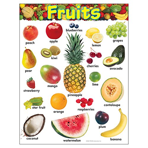 TREND enterprises, Inc. Fruits Learning Chart, 17