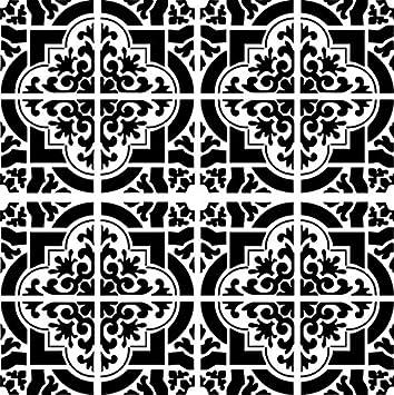 Marokko Schablone Fur Marokkanische Fliesen Wiederverwendbar A3 A4 A5 Und Grossere Grossen Orientalischer Reise Stil Selbstklebende Folien Schablone M Size 100 X 100 Cm 39 3 X 39 3 In Amazon De Baumarkt