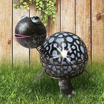 Led Solarleuchte Aus Metall Tiermotiv Garten Figur Terrasse Lampe