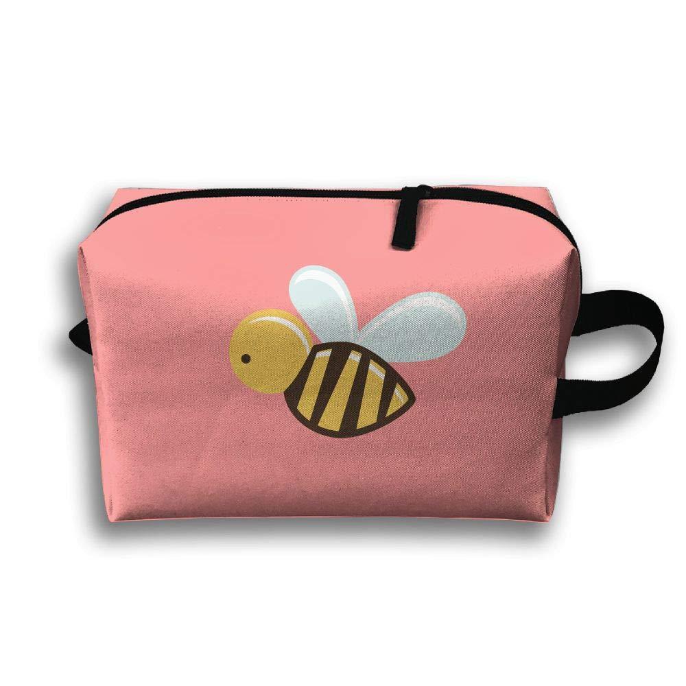 【人気沸騰】 Pinkipory スモール 旅行コスメバッグ ポータブルハンドバッグ Pinkipory 184 カートゥーン 蜂 洗面用具ポーチ スモール メイクアップバッグ ケース オーガナイザー B07HB31SHX Cartoon Bee 184 One Size, オオツシ:0575bf52 --- arianechie.dominiotemporario.com