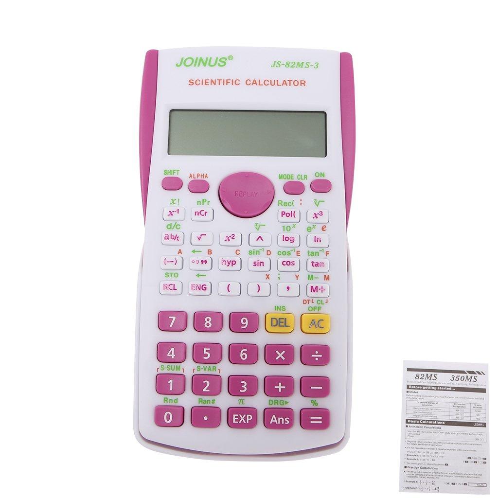 zobeen Student 240 Functions 2 Line Display 12 Digital Electronic Scientific Calculator (Fluorescent Green)