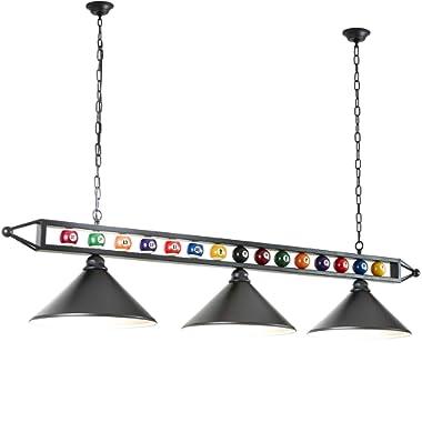 Hanging Pool Table Lamp, Billiard Light, 3 Pendant Light for Game Room, Dinning Room, Living Room, Bar, Cafe, Restaurant, Beer Party, Man Cave