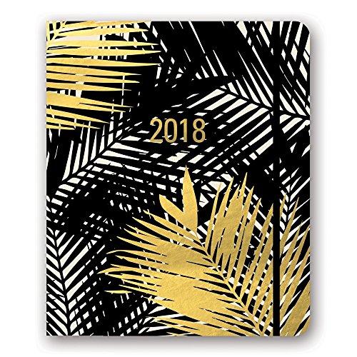 Hidden Circle (Orange Circle Studio 2018 Hidden Spiral Agenda, Aug. 2017 - Dec. 2018, Gold Foil Palm Fronds)