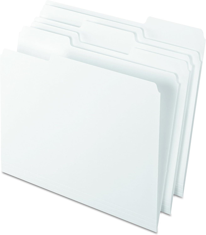 Pendaflex Two-Tone Color File Folders, Letter Size, Assorted Colors, 1/3 Cut, 100 per box (152 1/3 ASST) : Colored File Folders : Office Products