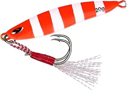 Freshwater Saltwater Fishing Jig Metal Lead Cast Jig Spoon Lure Bait Hooks Glow