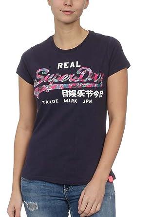 wholesale dealer d0c2a e57d4 Superdry Damen T-Shirt Vintage Logo INFILL Entry Tee Rinse ...