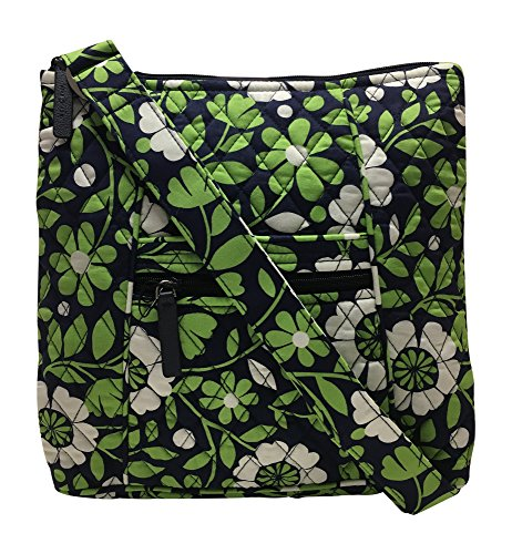 Vera Bradley Hipster Cross-Body Bag (Lucky You with Solid Navy Interior)