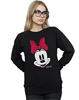 Disney Womens Minnie Mouse Distressed Face Sweatshirt