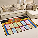 Naanle Education Educational Learning Area Rug 3'x5', Colorful Multiplication Time Table Polyester Area Rug Mat for Living Dining Dorm Room Bedroom Home Decorative