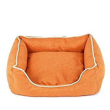 Wuwenw Camas para Perros Banco para Mascotas Perros Gatos Tumbona De Algodón Suave para Cachorros Casa para Perros Pequeños Y Medianos Colchonetas De Cama ...