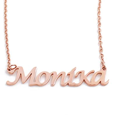 18ct Rose Gold Plated Kigu Ruby Custom Name Necklace Personalized