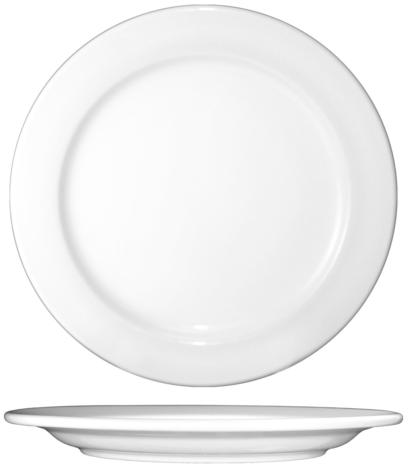 ITI-DO-7 Porcelain Dover 7.125-Inch Plate, 36-Piece, White