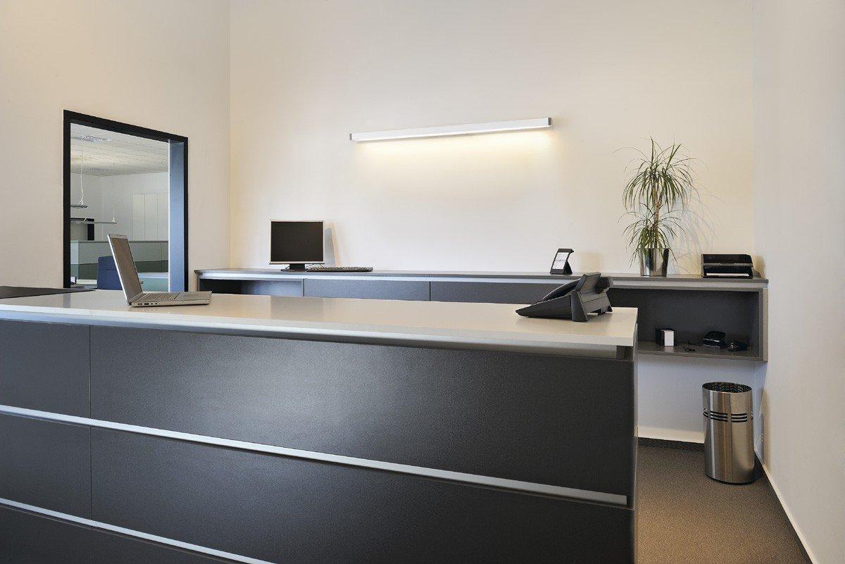 SLV Q-LINE WALL Indoor-Lampe Aluminium Weiß Lampe innen, Innen-Lampe