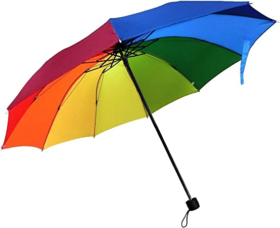 Rainbow Folding Umbrella,CAMTOA Folding Travel Rain Umbrella for Easy Carrying, Windproof(Not for Storm), Waterproof, Men & Women: Amazon.co.uk: Sports & Outdoors