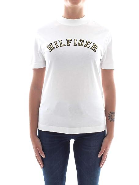 Tommy Hilfiger WW0WW23676 Camiseta Mujer Blanco S