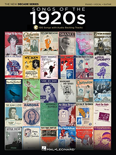Songs of the 1920s Songbook: The New Decade Series with Play-Along Backing Tracks