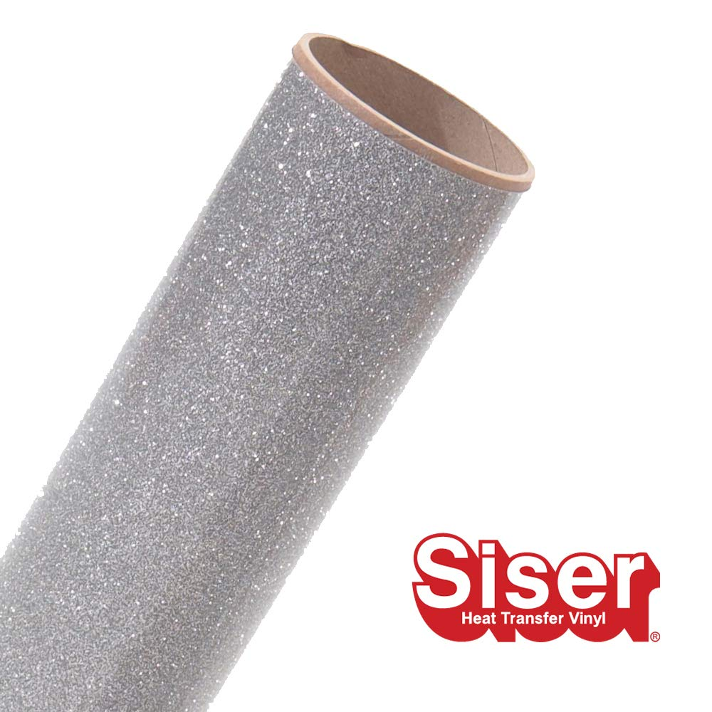 Siser Glitter 11.8''x5yd Roll (Silver, 15ft)