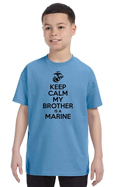bc927009 USMC Kids Shirt - Keep Calm My Brother is a Marine - USMC Brother Shirt -