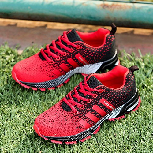 Casual Jogging De Gym Course 1 Air Athltique Chaussures Trainers Rouge Hommes Walk Femmes Sports Baskets Fitness Kuako wq7tI8BxP