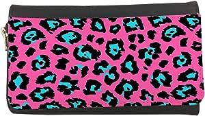 محفظة مصنوعة من الجلد  بتصميم شكل جلد النمر