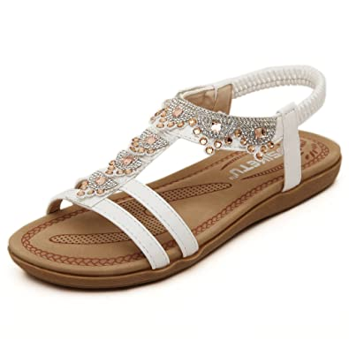 dc5b4fe7d7d Lemontree Womens Summer Bohemia Flat Sandals 282  Amazon.co.uk ...