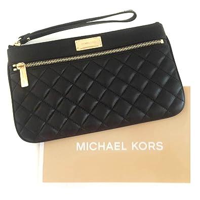 583aa3fd6994 NEW Genuine MICHAEL KORS Womens Black Leather  Sophie Quilt  Clutch Bag  Handbag Purse Wallet - 35F6GPQW3L  Amazon.co.uk  Shoes   Bags