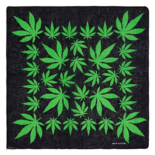 Marijuana Hemp Leaf Logo 420 Weed Classic Bandana Model 6