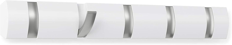Umbra 318850-660 Percha de pared  Flip 5 Blanco Brillante