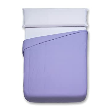 Sancarlos - Funda nórdica lisa, 100% Algodón, Color lila, Cama de 90 cm: Amazon.es: Hogar