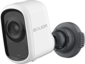 Soliom SP10 Wireless-Home-Security-WiFi-Camera, Rechargeable Battery Powered 1080p Video for Indoor Outdoor with AI Motion Detection, Customized Activity Zones and Night Vision,Two-Way Talk