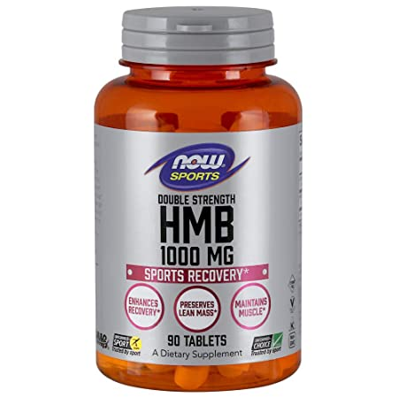 Now Sports Nutrition, HMB -Hydroxy -Methylbutyrate , Double Strength 1,000 mg, 90 Tablets