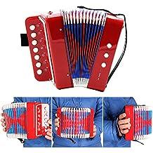 Andoer Kids Children 7-Key 2 Bass Mini Small Accordion Educational Musical Instrument Rhythm Band Toy